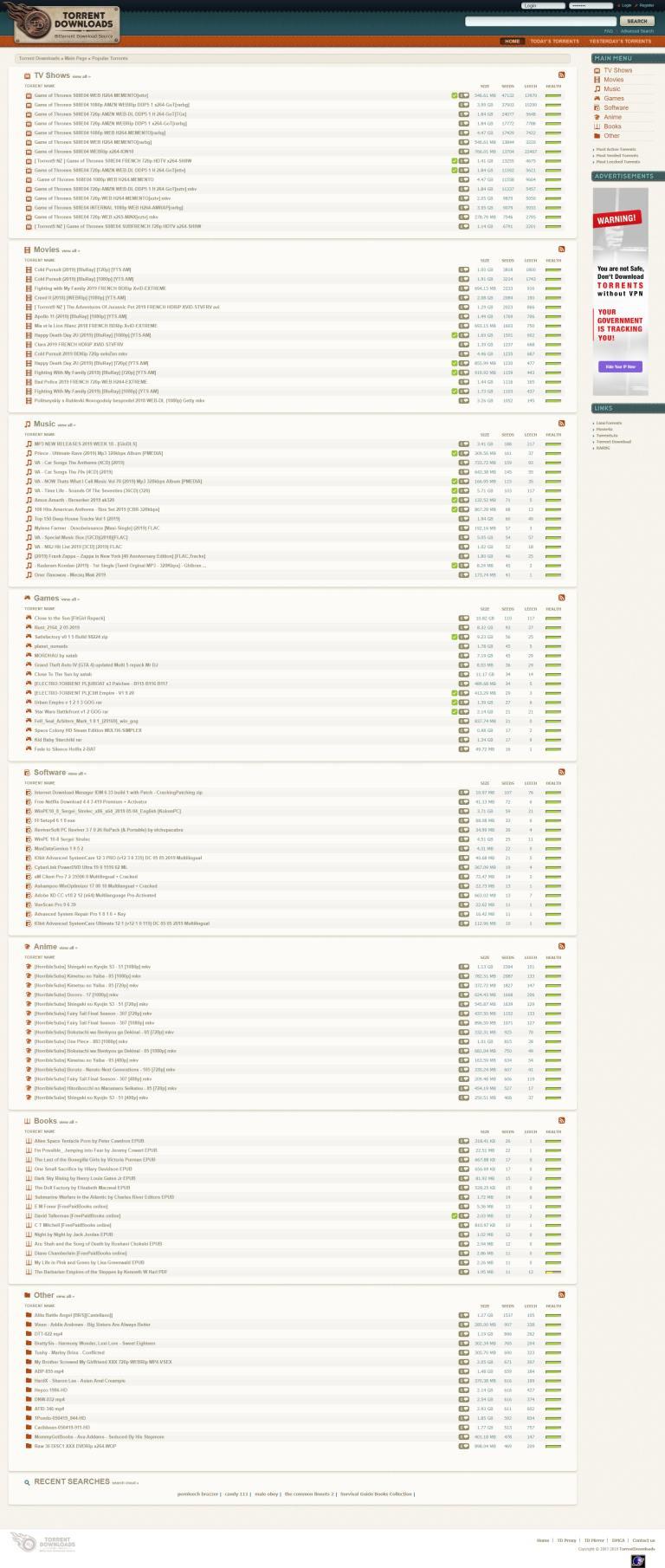 种子磁力下载站-torrentdownloads插图1