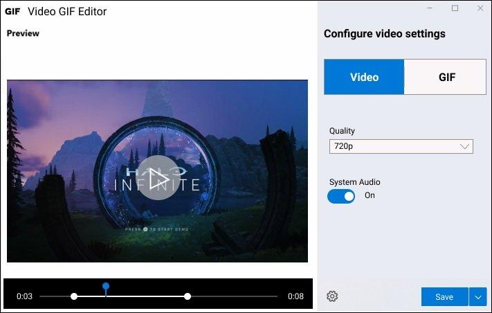 Video GIF Capture-win10内置录屏工具插图3