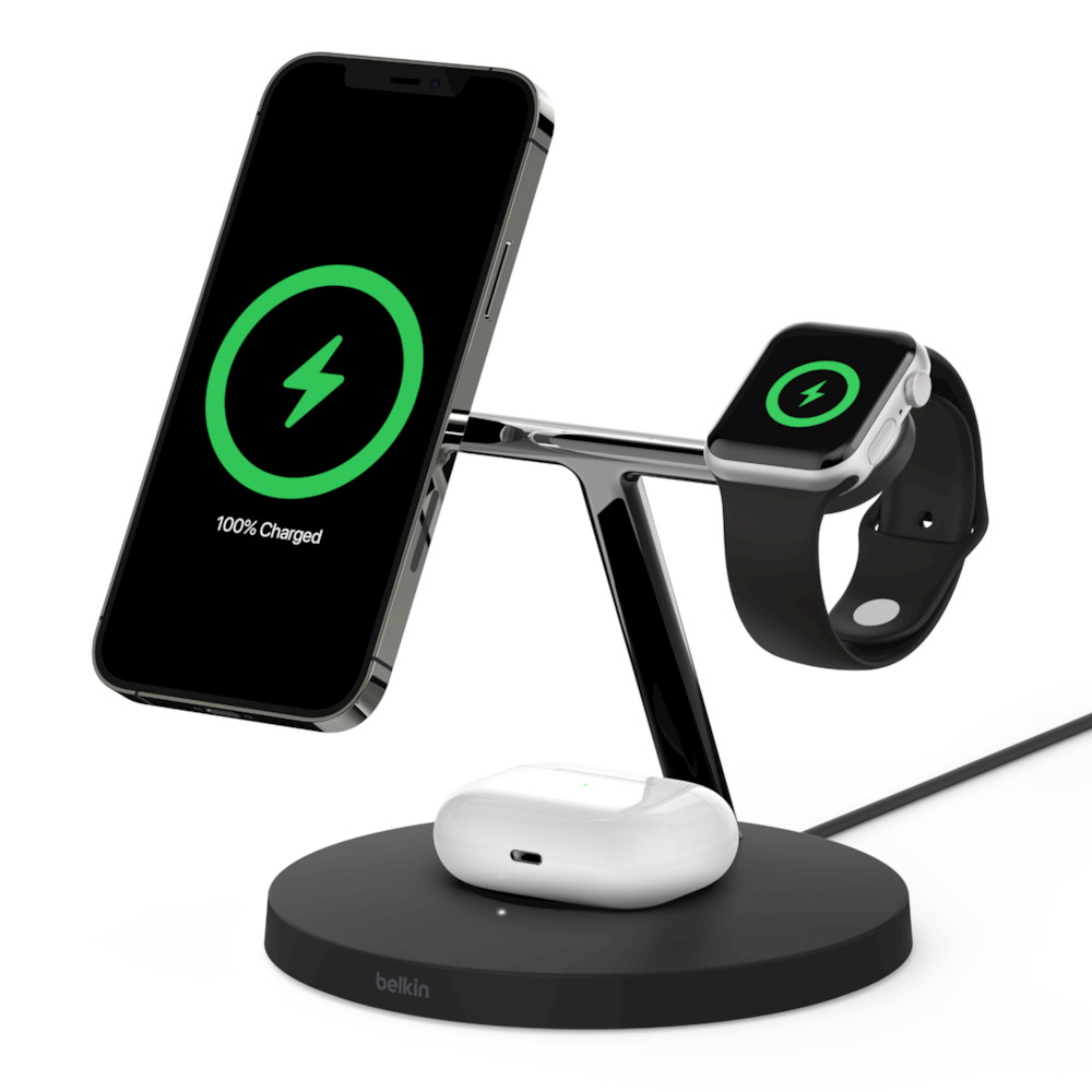 iPhone12 贝尔金MagSafe三合一无线充电器插图1